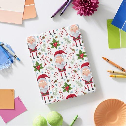 Cute Santa  Claus Pattern  iPad Smart Cover