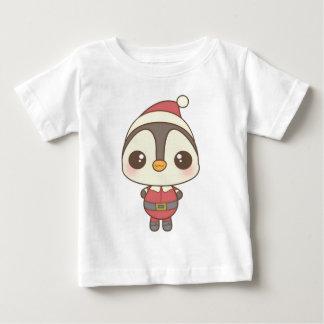 cute santa claus penguin character baby T-Shirt