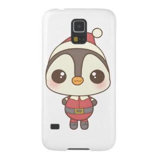cute santa claus penguin character galaxy nexus cases