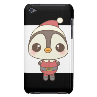cute santa claus penguin character barely there iPod covers