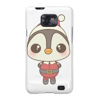 cute santa claus penguin character galaxy SII case