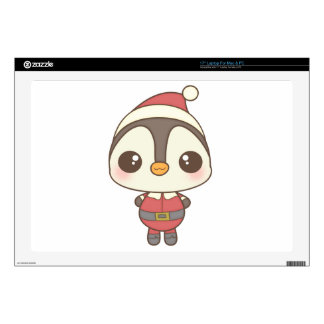 "cute santa claus penguin character skins for 17"" laptops"