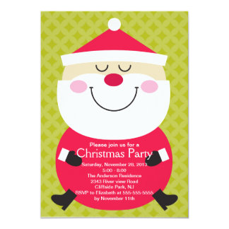 Cute Santa Claus Winter Party Invitation
