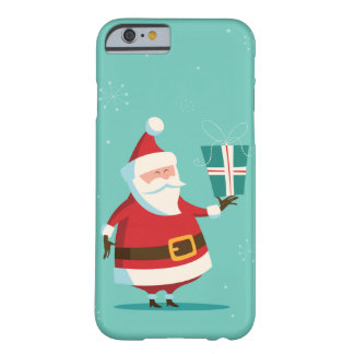 Cute Santa Claus with Gift Personalized Christmas Barely There iPhone 6 Case