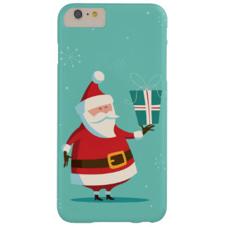 Cute Santa Claus with Gift Personalized Christmas Barely There iPhone 6 Plus Case