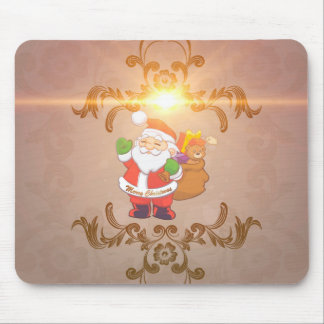 Cute Santa Claus with gifts Mouse Pad