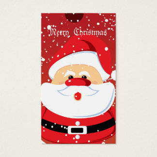 Cute Santa Clauss Custom Business Card-Gift Tag