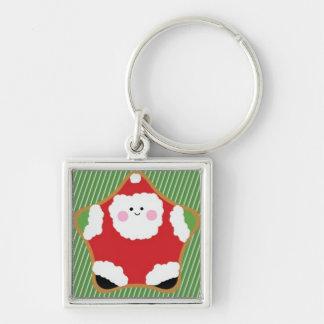 Cute Santa Cookie.jpg Keychain