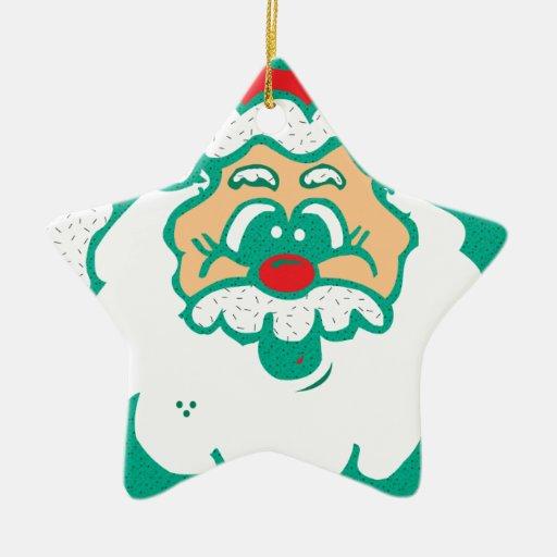 cute santa face christmas ornaments
