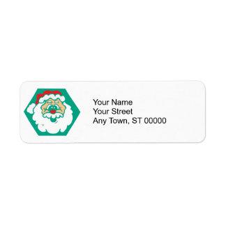 cute santa face return address label
