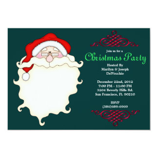 CUTE Santa Face With Red Border Card