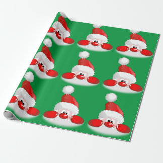 Cute Santa Face Wrapping Paper