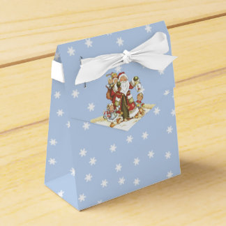 Cute Santa Folk Art Kids Christmas Snowflakes Favor Box