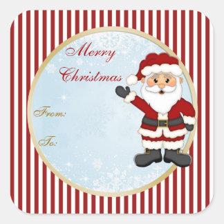 Cute Santa gift tag Christmas