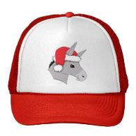 Cute Santa Hat Christmas Donkey