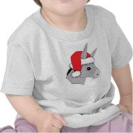 Cute Santa Hat Christmas Donkey T-shirt