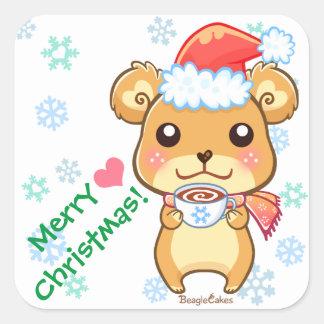 Cute Santa Hat Sticker