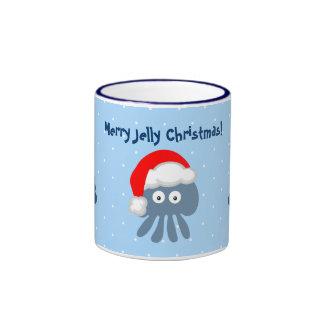 Cute Santa Jellyfish & Christmas Trees Mug