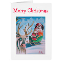 Cute Santa Merry Christmas Card