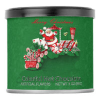 Cute Santa on Peppermint Candy Train With Letters Powdered Drink Mix