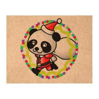 Cute Santa Panda Bear with Bag of Toys Cork Paper