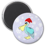 Cute Santa Pelican Magnets