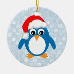 Cute Santa Penguin Christmas Tree Ornaments