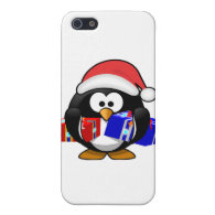 Cute Santa Penguin With Gifts Cover For iPhone 5