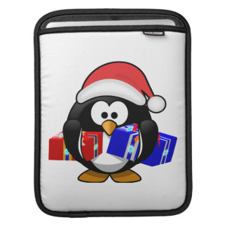 Cute Santa Penguin With Gifts Sleeves For iPads
