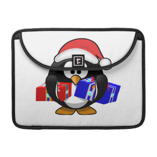 Cute Santa Penguin With Gifts Sleeve For MacBook Pro