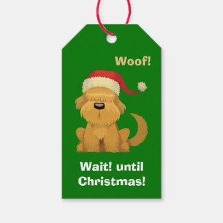 Cute Santa Puppy Wait Until Christmas Gift Tags
