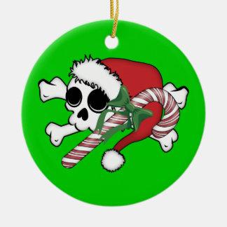 Cute Santa Skull Christmas Tree Ornaments
