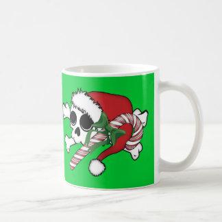 Cute Santa Skull Classic White Coffee Mug