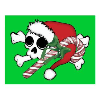 Cute Santa Skull Postcard