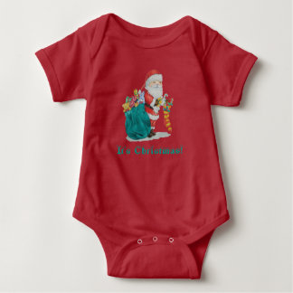 cute santa with toys christmas baby infant creeper