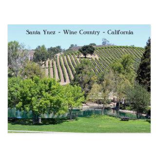 Cute Santa Ynez Wine Country Postcard! Postcard