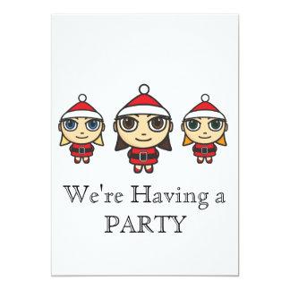 Cute Santas Helpers Party Invitation
