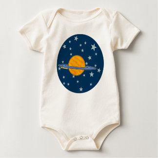 Cute Saturn Infant Organic Baby Bodysuit