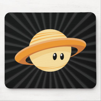 Cute Saturn Planet Mouse Pad