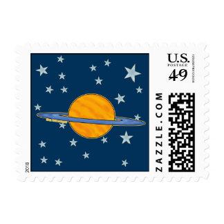 Cute Saturn Postage Stamps