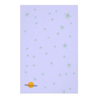 Cute Saturn Stationery