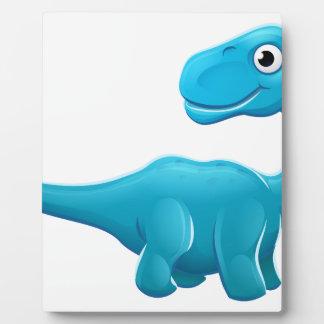 Cute Sauropod Cartoon Dinosaur Plaque
