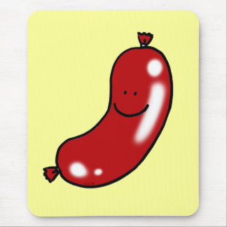 Cute sausage mouse pad