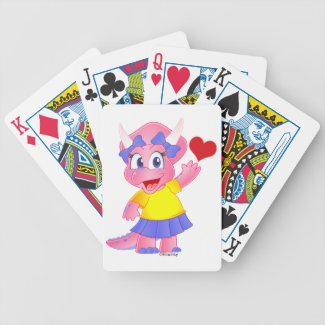 Cute Savannah Dino Cards (Heart) Bicycle Poker Cards