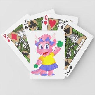 Cute Savannah Dino Cards (Shamrock) Deck Of Cards