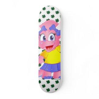 Cute Savannah Dino Cartoon Skateboard (Clover)