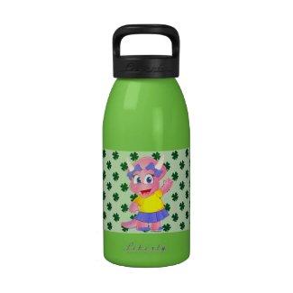 Cute Savannah Dino Water Bottle (Shamrock)