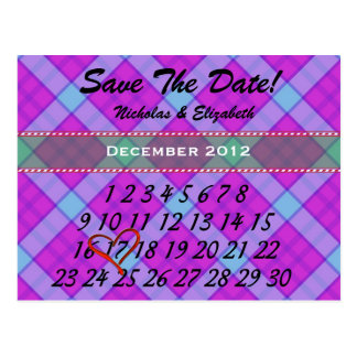 CUTE Save the Date Custom Calandar Postcard