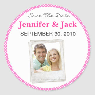 Cute Save the date Sticker with photo
