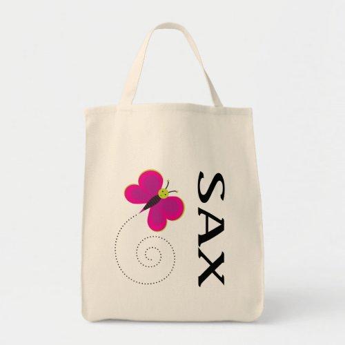 Cute SAX Logo Saxophone Tote Bag